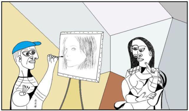 Realtà_cubista_con_quadro_realista